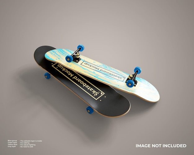 Mockup voor skateboards