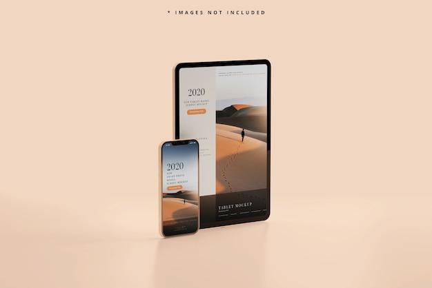 Mockup voor slimme telefoon en tablet