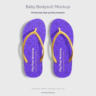 Mockup voor slippers