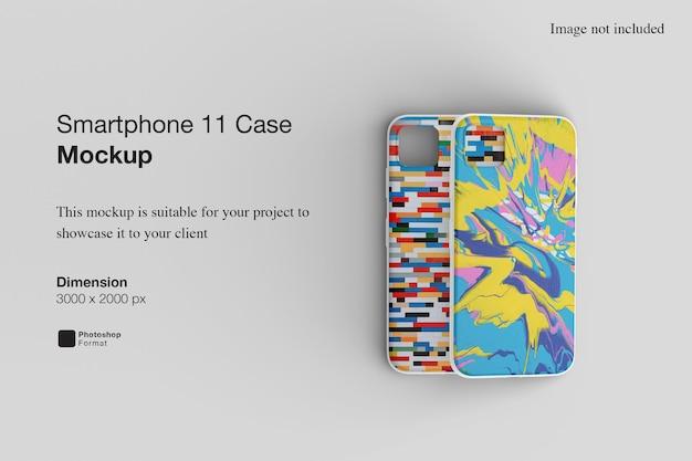 Mockup voor smartphone-hoes