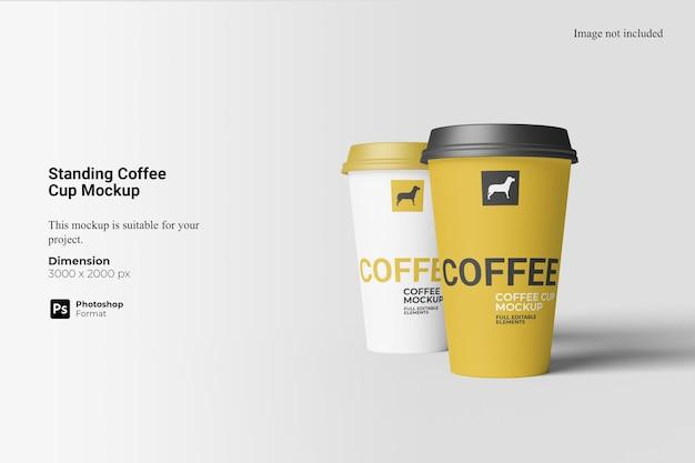Mockup voor staande koffiekop