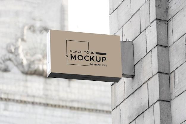 Mockup voor stadsbordontwerp
