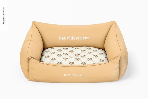 Mockup voor stoel met kussen voor huisdieren, vooraanzicht