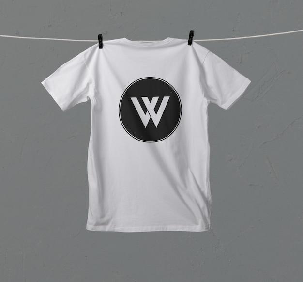 Mockup voor t-shirt op de achterkant