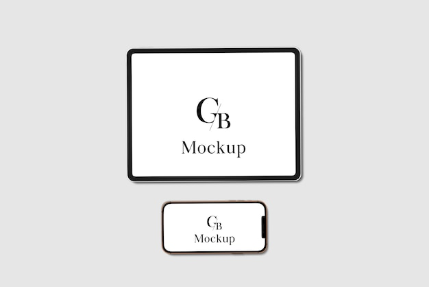 Mockup voor tablet en smartphone
