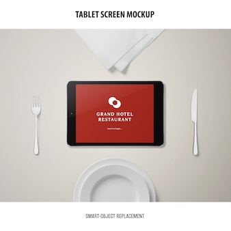 Mockup voor tabletscherm