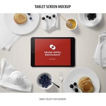 Mockup voor tabletscherm