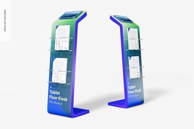 Mockup voor tabletvloerkiosken