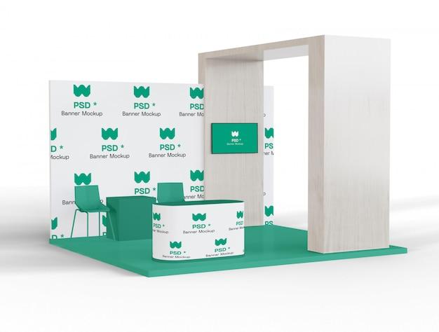 Mockup voor tentoonstelling en promotie