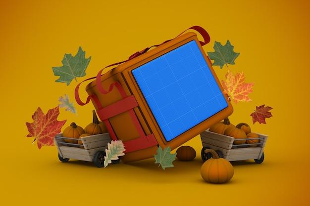 Mockup voor thanksgiving-bezorging