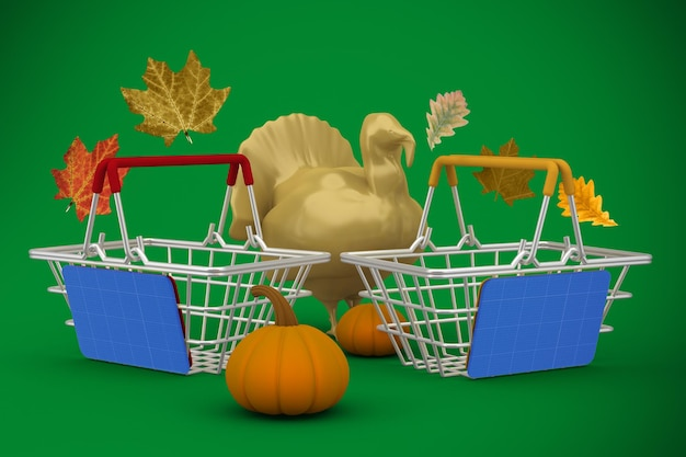 Mockup voor thanksgiving-shopping