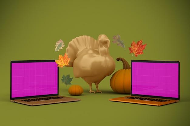 Mockup voor thanksgiving-website