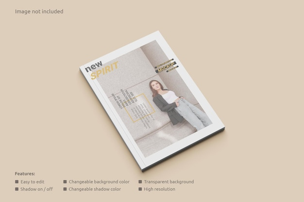 Mockup voor tijdschriftomslag