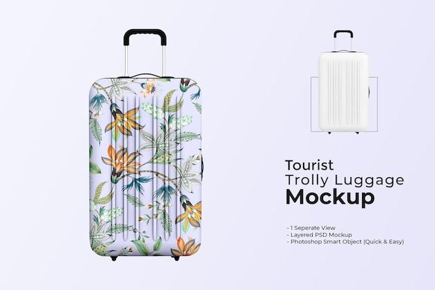 Mockup voor toeristische trolleybagage