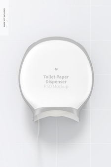 Mockup voor toiletpapierdispenser, vooraanzicht
