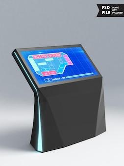 Mockup voor touchscreen-monitor