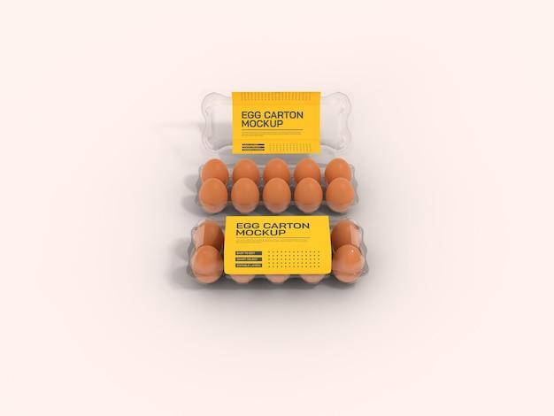 Mockup voor transparante eierdoos