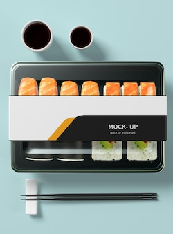 Mockup voor transparante voedselbox