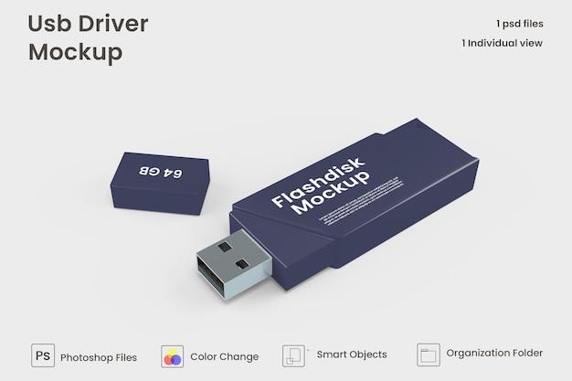 Mockup voor usb-drive premium psd