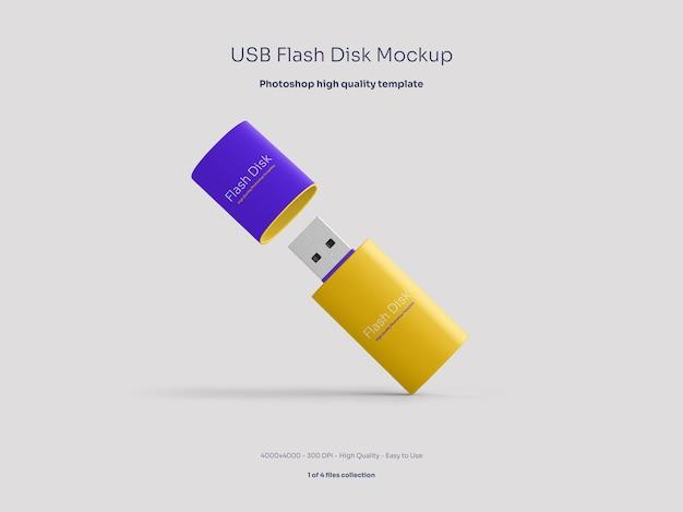 Mockup voor usb-flashdisk