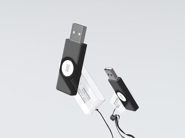 Mockup voor usb-flashstation