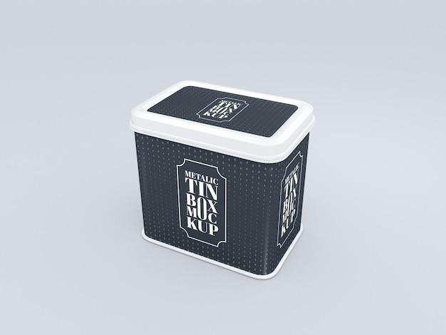 Mockup voor verpakking van aluminium containers