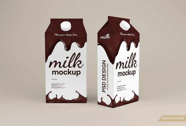 Mockup voor verpakking van chocolademelkdoos