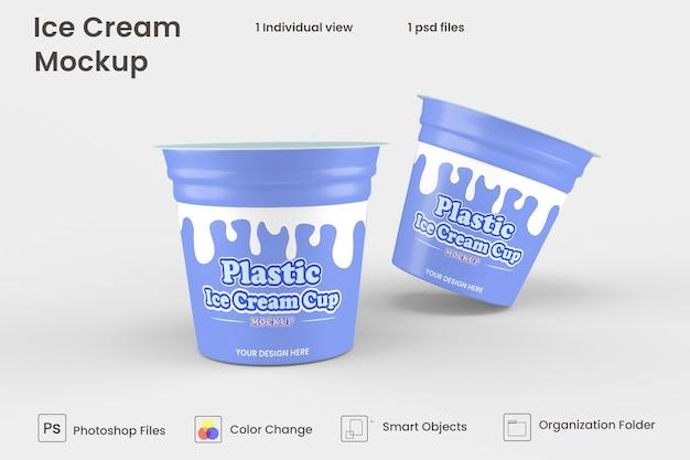 Mockup voor verpakking van ijskruiken