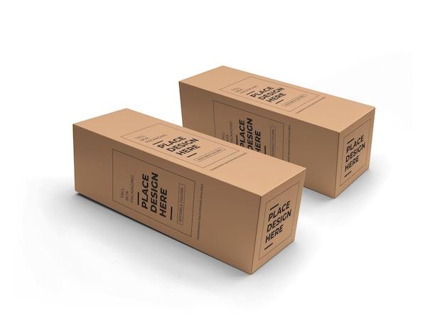 Mockup voor verpakking van lange dozen