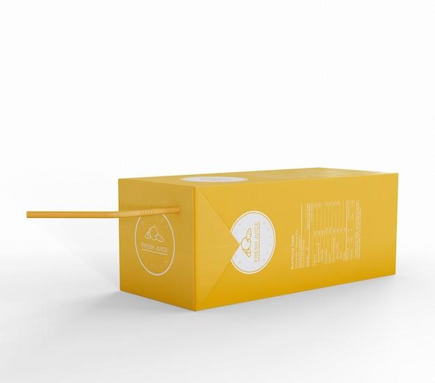 Mockup voor verpakking van sapkarton