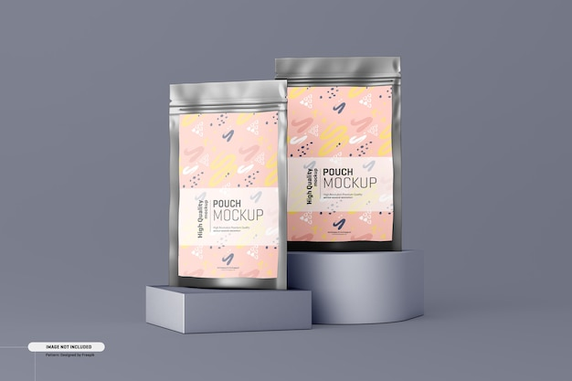 Mockup voor verpakking van voedingssupplementen