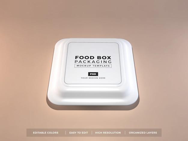 Mockup voor verpakking van voedselverpakkingen