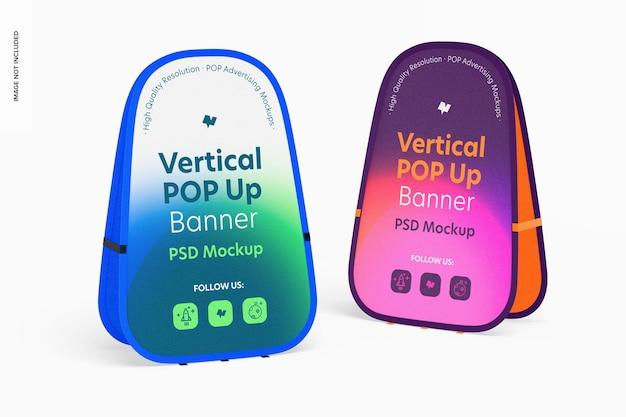 Mockup voor verticale pop-upbanners