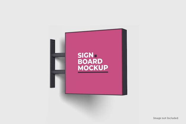 Mockup voor vierkant uithangbord