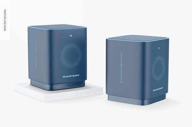Mockup voor vierkante bluetooth-luidsprekers