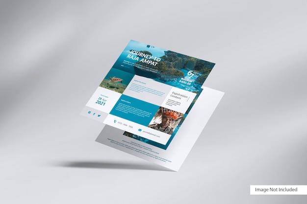 Mockup voor vierkante flyer
