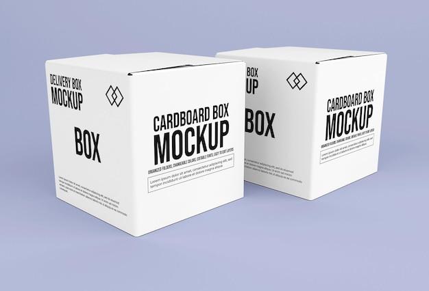 Mockup voor vierkante levering