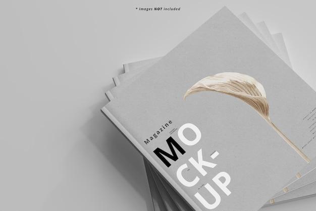 Mockup voor vierkante tijdschriften