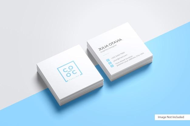 Mockup voor vierkante visitekaartjes