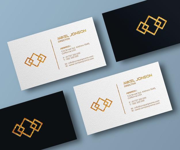 Mockup voor visitekaartjes en logo's