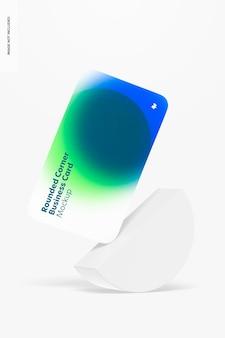 Mockup voor visitekaartjes met afgeronde hoeken