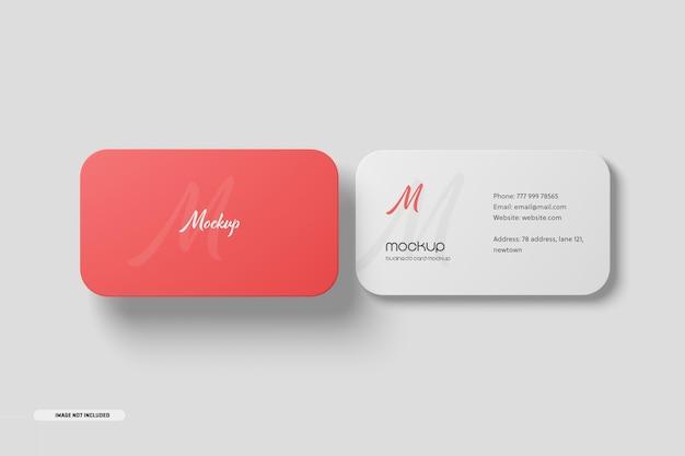Mockup voor visitekaartjes met ronde hoek