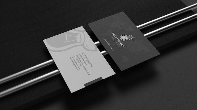 Mockup voor visitekaartjes met twee kanten