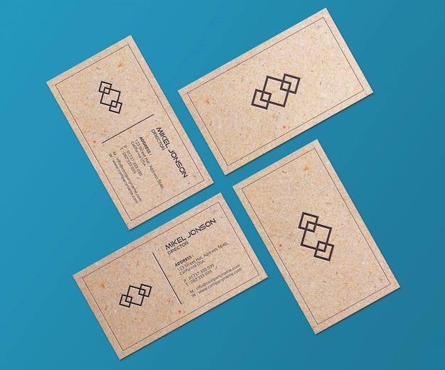 Mockup voor visitekaartjes van papierstijlen
