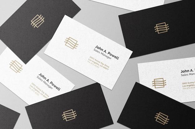 Mockup voor visitekaartjesverzameling business