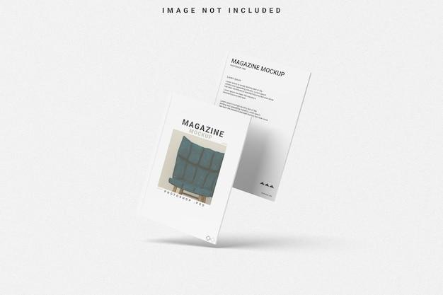 Mockup voor vliegend omslagmagazine