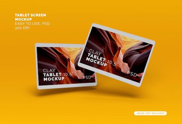 Mockup voor vliegende tablets