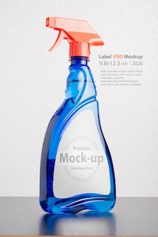 Mockup voor vloeibare flessen