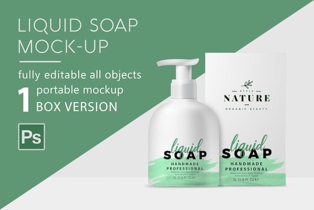 Mockup voor vloeibare zeep
