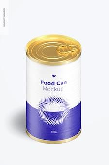 Mockup voor voedselblikjes van 580 g, isometrische weergave